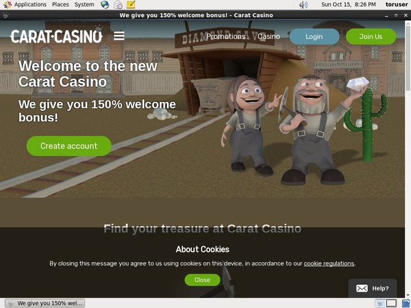 Carat Casino Register Page
