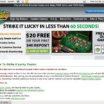 Strike It Lucky Baccarat Bonus