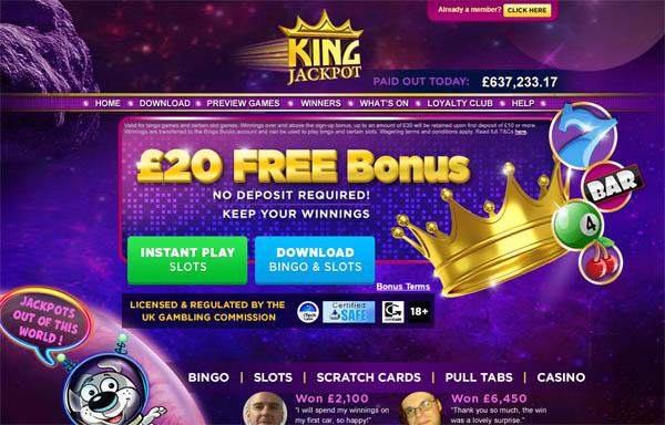 Kingjackpot Free Chip