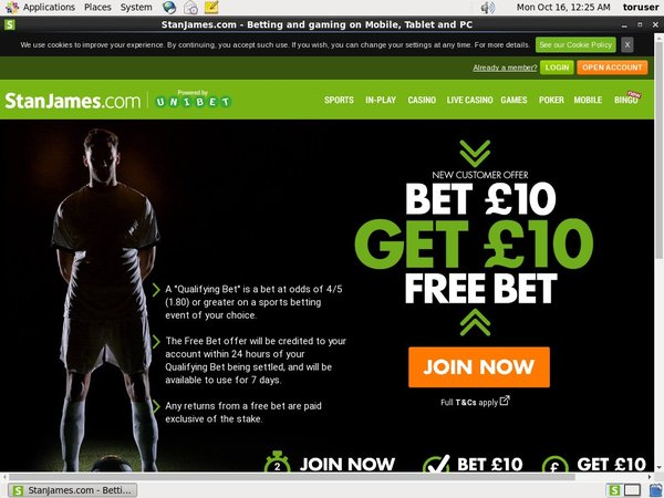 Stan James Online Casino Offers