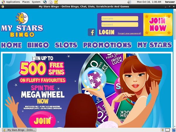 Mystarsbingo Progressive Jackpots