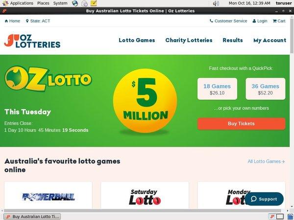 Oz Lotteries Bet Limits