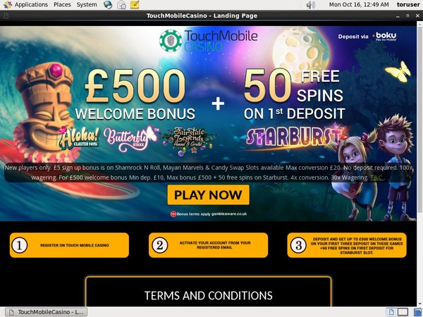 Touch Mobile No Deposit Casino