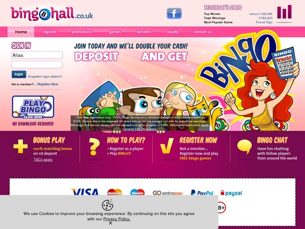 Bingohall Safety Pay