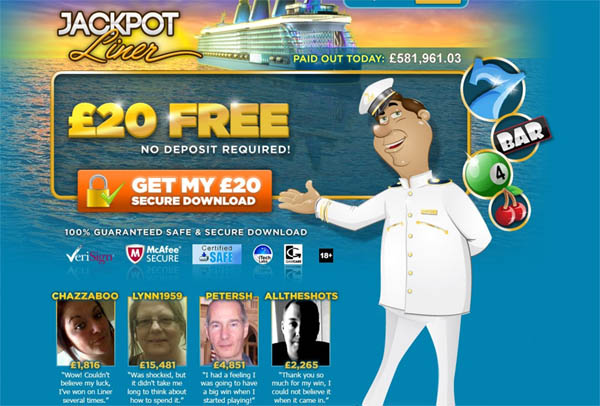 Jackpot Liner UK Casino Bonus Codes