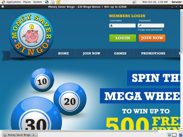 Money Saver Bingo Joining Promo