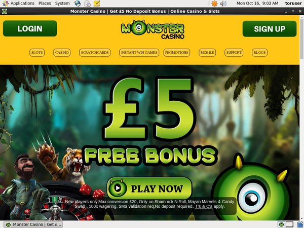 Monster Casino Make Bet