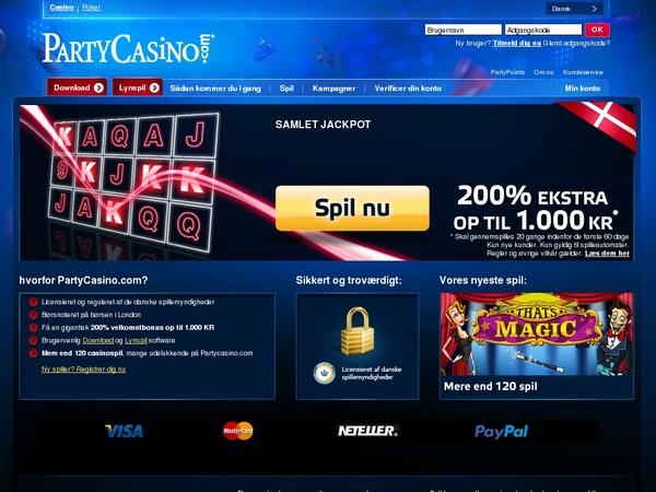 Party Casino (Denmark) Max Bet
