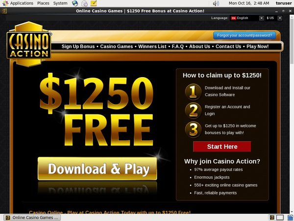 Casinoaction Paypal Account