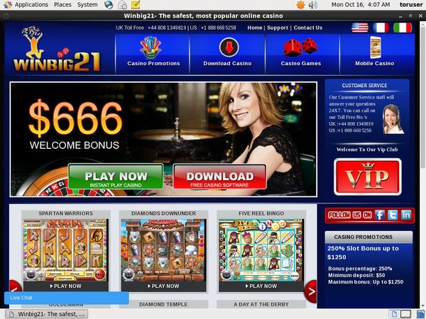 Free Win Big 21 Bet