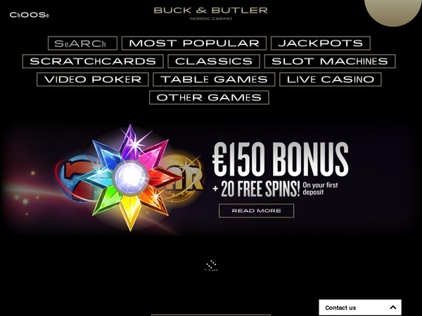 Buckandbutler New Player Bonus