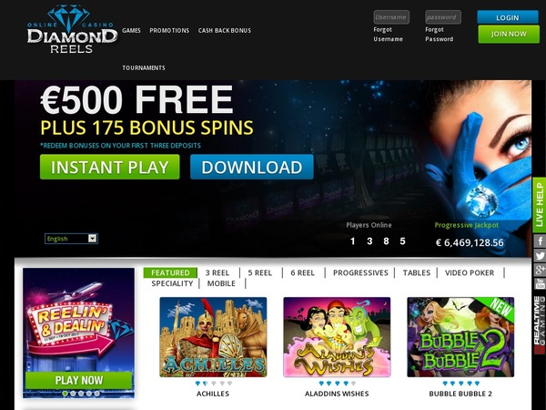 Diamondreels Online Casino Sites
