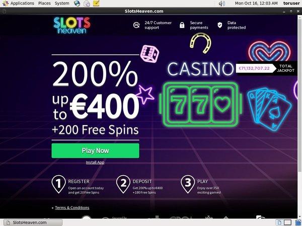 Slots Heaven Bonus Code Offer