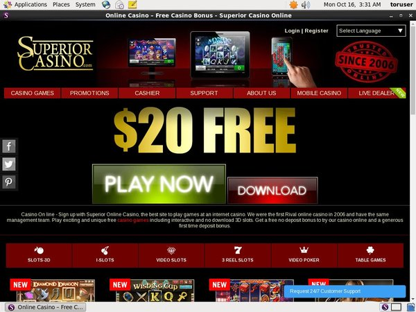 Superiorcasino How To Sign Up
